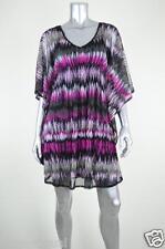 INC New Black Tribal Chiffon Caftan Shift Casual Dress MSRP $79 Size XS