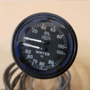 Jaguar XK120 XK140 Original Water and Oil Temperature Gauge Smiths X42638/6 OEM