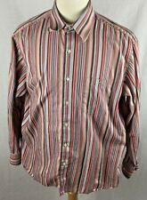 LACOSTE  Button Down Men's Multicolor Striped Dress Shirt Size 44