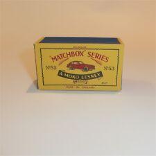 Matchbox Lesney 53 a Aston Martin empty Repro B style Box