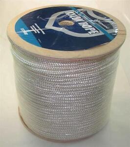 """Marine Grade Double Braided Nylon Rope 3/8"""" x 600 ft White Braid 22907"""