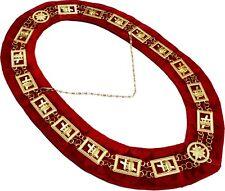 Masonic Regalia KT Knights Templar Metal Chain Collar RED Backing DMR-500GR
