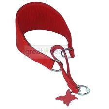 Genuine Leather Wide Martingale Glamour Greyhound Dog Collar Choke Large Red