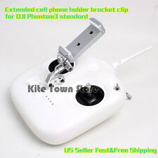 Extended cell phone holder bracket clip for DJI Phantom3 standard