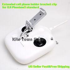 Extended cell phone holder bracket clip for DJI Phantom3 standard