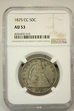 1875 CC 50 Cent Seated Liberty Half Dollar AU 53 NGC Graded