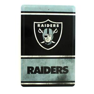 Oakland Raiders NFL Team Logo Tin Sign