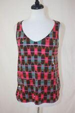 Boden Women's Multi Color Sequin Tank Top, Stretch, V-Neck, Sz. 8 R