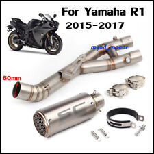 Motorcycle Full Exhaust System Middle Pipe Exhaust Pipe For Yamaha R1 2015-2017