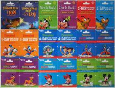 18 Different DISNEYLAND Passport Disney Gift Cards 2010: Fantasmic, Mickey++(+4)