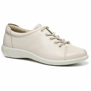 Hotter Women's Dew Wide Fit Lace Up Shoe Leather Lace Up Adult Flats Casual Flat