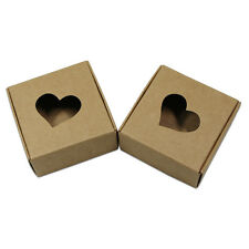 Kraft Paper Heart Shaped Hollow Packaging Box For Gift Craft Jewelry Candy Soap
