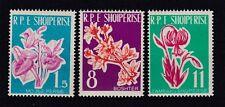Albanien 1961 postfrisch MiNr.  633-635   Blumen