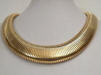 breites elegantes COLLIER GOLD 585 sog. SCHLAUCHFORM - punziert - Italien