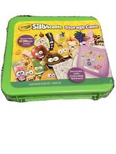 New Silly Scents Storage Case + Colorable Stickers Green Crayola