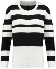 Crewneck Machine Washable Thin Knit Solid Jumpers & Cardigans for Women