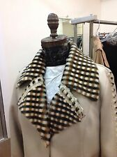 BURBERRY SHEARLING LEATHER COUTURE COAT FUR INSIDE LEATHER OUTSIDE BRAND NEW