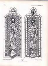 Gótico Ratisbon piezas de vidrio de permanece en plena y triforium 2