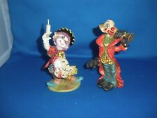 CLOWNS:DOCTOR FIGURINE GIVING SHOT TO BABY & FIGURINE PLAYING TRUMPET ITALY (: