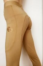 Ladies Beige Riding Tights Silicone Grip Leggings  sizes 8-24