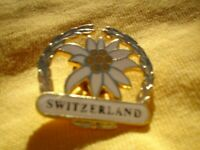 PIN ON METAL BADGE BROOCH ORIGINAL APPROX 4 CM SWITZERLAND
