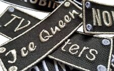 Personalised Name Embroidered Patches Sew Iron On Badge Tag Hat Jeans Club Biker