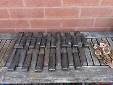 Reclaimed  25 Art Deco Clipper Stair Clips Carpet Grips Brackets Copperized.