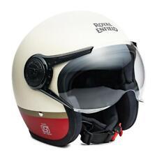 100%  Fits For Royal Enfield Scrambler Helmet Baker Express Matt White