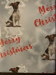 JACK RUSSELL TERRIER DOG PET  MERRY CHRISTMAS PREMIUM GIFT WRAPPING PAPER 60cm