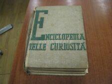 COPERTINA ROVINATA LIBRO ENCICLOPEDIA DELLE CURIOSITA' 1937 RILEGATURA DANNEGGIA