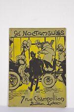 Cabaret les Noctambules Quartier Latin Chansonniers Edouard BERNARD Lithog 1906