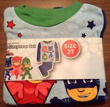 P. J. Masks Boys Pajamas Cotton Pajamas Sleepwear Disney Size 2T Snug Fit 2 Pc