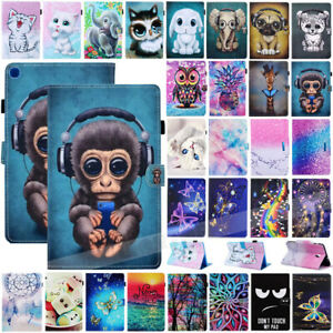 For Samsung TAB A 8'' 10.1'' 10.5'' T510 T580 T290 Printed Leather Case Cover