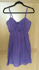 Lovely ladies size 14 purple tunic top with bows elasticated back