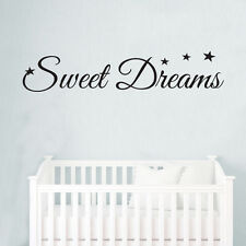 Sweet Dreams Stars Baby Kids Quote Wall Stickers Art Room Removable Decals DIY