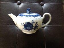 Vintage Royal Copenhagen Tranquebar Teapot Blue Rose Bud Signed