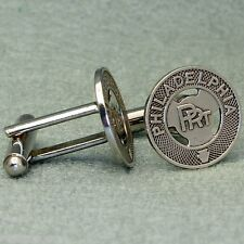 Philadelphia PRT Vintage Trolley Token Cufflinks,  Hand Crafted New