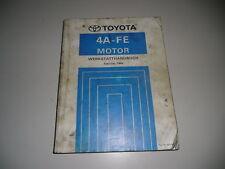 Workshop Manual Toyota Corolla/Corona/Carina Motor 4A-FE Edition 02/1992