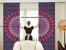 Indian Mandala Bedroom Curtains,Tapestry Drapes, Window Treatment Handmade 2 PC