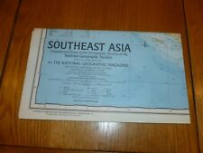 SOUTHEAST ASIA - National Gegraphic MAP - ATLAS PLATE ? / Dec 1968