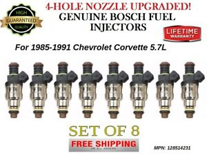 8x Bosch 4-Hole UPGRADED Fuel Injectors for 1985-1991 Chevrolet Corvette 5.7L