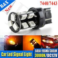 1x 7443 7440 T20 Amber High Power 5050 Chip 19LED Turn Signal Lights bulbs 380lm