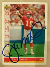Joe Montana Signed Autographed 93 Upper Deck NFL Football Card Chiefs Authentic