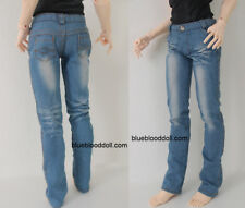 1/3 Bjd 70cm Eid Hero Soom Id Macho Muñeca Ropas Conjunto Celeste Lavado Jeans