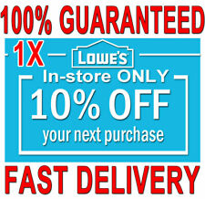 1x Lowes 10% OFF (20 SEC) DELIVERY -COUPONS1 INSTORE ONLY ORDERS EXPIRES 𝟕/𝟏𝟎