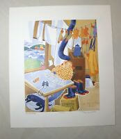 original 1997 Limited Edition Rie Munoz signed numbered Solitaire art print