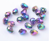 50pcs 7X5mm Crystal Glass Beads Facted Loose Beads Free Shipping Colorized