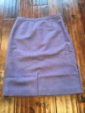 Tibi Light Purple Wool Blend Straight Pencil Skirt, Size 8