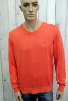 TOMMY HILFIGER Maglione Uomo Taglia XL Casual In Seta Pullover Sweater Cardigan
