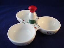Pfaltzgraff Christmas Winterberry 3 Part Divided Server with Handle